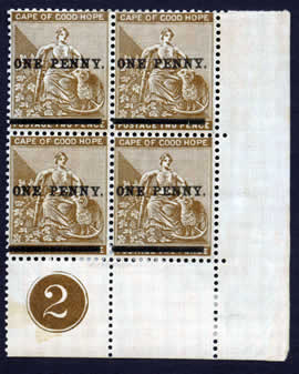 One Penny Overprint - Brown B4