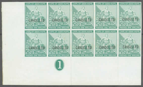 The Cape of Good Hope Rectangular Stamps The First Definitive issue 1864