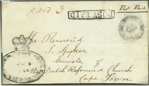 The Crown-in-Circle Postmarks of the Cape of Good Hope